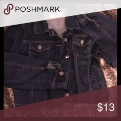 Cut off dark wash jean jacket Cut off dark wash jean jacket Jackets & Coats Jean Jackets