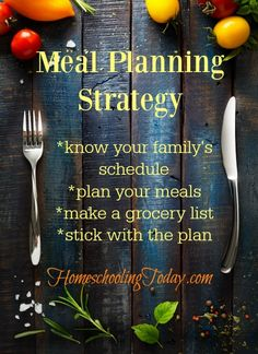 Meal Planning Strate