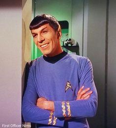 """Return to Tomorrow"" Star Trek TOS 1968 Leonard Nimoy Spock smile First Officer Nims Star Trek Cast, Star Trek Spock, Vulcan Star Trek, Film Science Fiction, Star Trek Images, Star Trek Original Series, Leonard Nimoy, Star Trek Universe, Star Wars Poster"