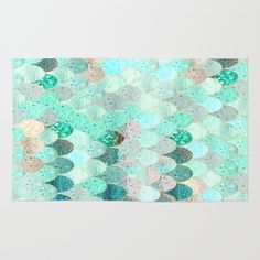 Buy Area & Throw Rugs with design featuring SUMMER MERMAID by Monika Strigel and adorn your home with both style and comfort. Available in three sizes (2' x 3', 3' x 5', 4' x 6').