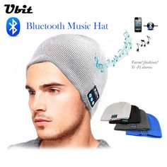 Ubit Men Women Outdoor Sport Bluetooth Stereo Magic Music Hat Smart Electronics Wireless Bluetooth Earphone Hat for SmartPhone