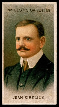 Cigarette Card - Composer Jean Sibelius by cigcardpix, via Flickr