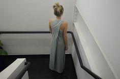 Esse vestido da foto é de malha reciclada, que tal?
