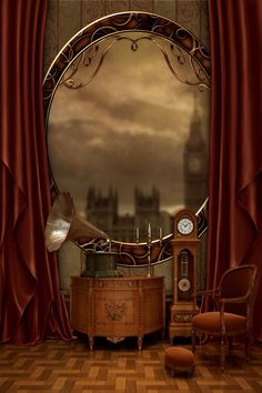 Interior : Fabulous Brown Steampunk Decor For Gorgeous Interior Design picture - a part of Enthralling Steampunk Interior Design Ideas