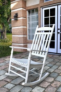 Rhode Island White Hardwood Porch Outdoor Rocker White Rocking Chairs, Outdoor Rocking Chairs, Wicker Chairs, Patio Chairs, Adirondack Chairs, Room Chairs, White Wicker, White Wood, White Cedar