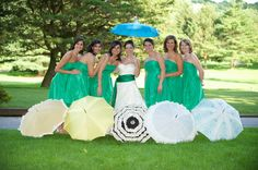 vintage beach umbrellas | Budget Visions Are Possible: Keep a cool head on your warm wedding day