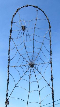 Waiting Spider In A Web Barbed Wire Garden by thedustyraven, $57.00