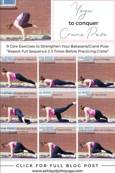 Yoga Sequence for #CranePose #Bakasana