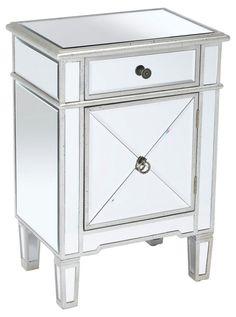 Sullivan 2-Drawer Nightstand, Mirrored