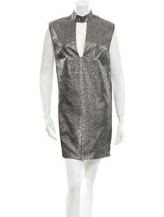 The New Way To Wear Metallics: Nomia Metallic Patterned Dress
