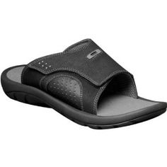 e102c0fd42 Oakley Supercoil Slide 3 Men s Sandal Flip Flops Footwear - Black Grey    Size 9.0