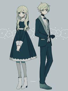 Character Outfits, Cute Anime Character, Character Art, Character Design, Anime Siblings, Anime Child, Kawaii Anime Girl, Anime Art Girl, Couple Outfits