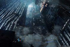 Blade Runner Official Concept Art - Concept Art - Blade Runner 2049 was released 5 of October A Sci-Fi mystery thriller from the Director Denis Villeneuve. Cyberpunk City, Futuristic City, Cyberpunk 2077, Cool Wallpaper, Wallpaper Backgrounds, Wallpaper Desktop, Blade Runner Wallpaper, Dreamland, Movies