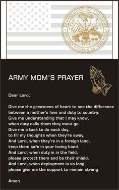 Army Mom's prayer
