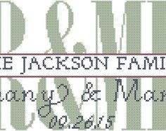 Infinity Love Cross Stitch Pattern Personalized with Names and Date ...