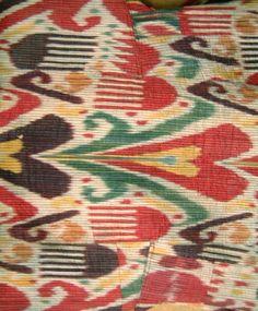 Uzbek Ikat fabric