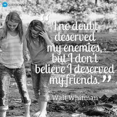 Walt Whitman #quote about friendship