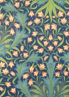 indigodreams:  Harebell Pattern . postcard William Morris