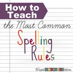 How to Teach Your Child to Read - Learning how to spell can be difficult. Teaching your child these common spelling rules will help. Give Your Child a Head Start, and.Pave the Way for a Bright, Successful Future. 3rd Grade Spelling, Spelling Help, Spelling For Kids, Spelling Rules, Spelling Activities, Spelling Centers, Listening Activities, Grammar Rules, Teaching Activities