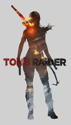 Lara Croft Tomb Raider art - Video gaming.