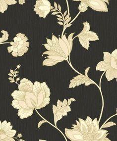 Ideco Jacobean Rich Floral Leaf Blown Vinyl Wallpaper Roll Black Gold V.413-01 Ideco,http://www.amazon.com/dp/B009M210AQ/ref=cm_sw_r_pi_dp_EaCEsb0T1W4CRN69