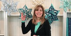 Choose Frosty Colors or Your Holiday Favorites! Beautiful fabric snowflakes hung throughout the house will provide a magical touch to your holiday decor. They're so easy to make, too, and don't involve any sewing. For each of the large snowflakes shown here choose two coordinating fabrics and cut them into 7″ squares. Blues and grays …