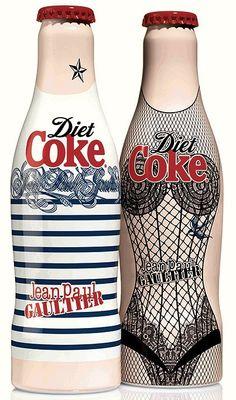 John Paul Gaultier diet Coke special edition bottle packaging