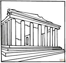 parthenon greece coloring page from sightseeing category select from 28336 printable crafts of cartoons nature animals bible and many more