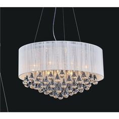 Crystal World Inc. - White Sheer 22 Inches Chandelier - 5006P22C(W) - Home Depot Canada