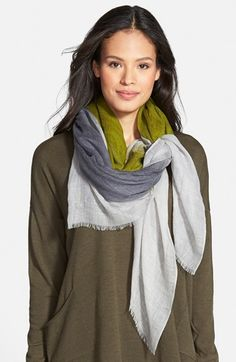 Eileen Fisher Wool & Silk Scarf available at #Nordstrom