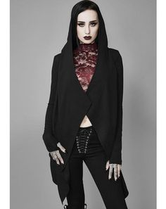 ⬛ ️ Gothic Clothing & Emo Occult Fashion with Our Doll Mercy Pleated Mini Skirt, Dark Fashion, Lace Bodysuit, White Hoodie, Online Boutiques, Juicy Couture, Black Tops, Hoodies, Hoodie