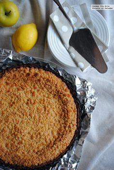 Tarta crumble de manzana y limón. Receta para impresionar