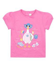 Another great find on #zulily! JoJo Maman Bébé Pink Beach Duck Cap-Sleeve Top - Infant, Toddler & Girls by JoJo Maman Bébé #zulilyfinds