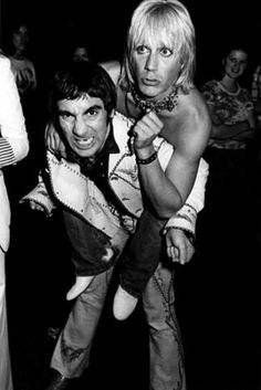 Keith Moon & Iggy Pop, 1974. Couldn't imagine trying to keep up with these two during a night/days of partying