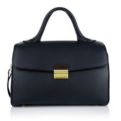 Simply sophisticated: Celine Top Handle Handbag made from natural calfskin in classy Navy Blue. Fashionette.de