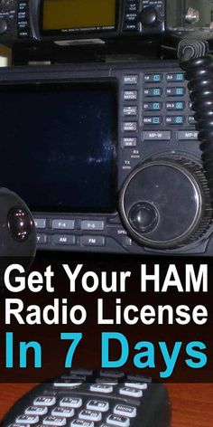 You can learn ham radio faster by learning as you go. But the problem is that you need a license before you can even use one. Well, it only takes 7 days. Survival Prepping, Emergency Preparedness, Survival Skills, Survival Shelter, Homestead Survival, Urban Survival, Camping Survival, Survival Gear, Ham Radio Kits