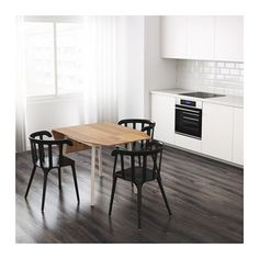 mÖckelby drop-leaf table ikea table with a top layer of solid wood, Esstisch ideennn