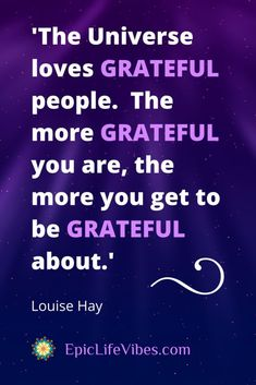 How to Create Your Gratitude Master List for Positive Energy Anytime - New Ideas Positive Vibes, Positive Quotes, Motivational Quotes, Inspirational Quotes, Louise Hay, Universe Love, Thanksgiving Quotes, A Course In Miracles, Game Of Life