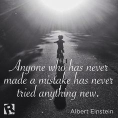 Don't dwell on past mistakes, keep trying new things! #motivationalmonday