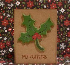 Cricut Crazy Scrapper: Holly Christmas card