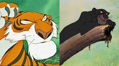 Shere Khan and Bagheera, 'The Jungle Book' (1967)