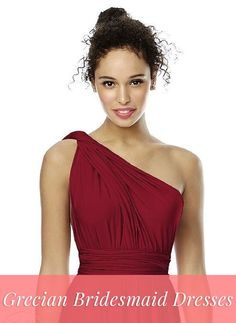 Shop Grecian bridesmaid dresses by the Dessy Group!