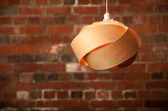 Wood veneer pendant light shade - Rose by Minnowlighting Lamp Shades, Light Shades, Light Fittings, Light Fixtures, Shade Roses, Wood Pendant Light, Cool Typography, Bedside Lighting, Light Project