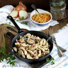 Szare kluchy ze skrzyczkami Paella, Ethnic Recipes, Food, Meal, Essen