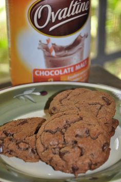Malted Chocolate Ovaltine Cookies