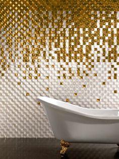 Оригинальная плитка в ванной  Сегодня продукция наших производителей привнесла в нашу повседневную жизнь свежие формы, новые краски и массу стильных дизайнерских идей. Современная керамическая плитка для современной ванны уже на нашем сайте : http://santehnika-tut.ru/keramicheskaya-plitka/  #кафельнаяплитка #смеситель #сантехника #роскошь #раковина