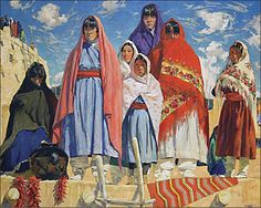 'Their Audience', by Walter Ufer.  (1876-1936)  Great color.  Love the pot in the foreground.