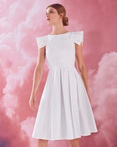 Gingham frilled cotton-blend dress