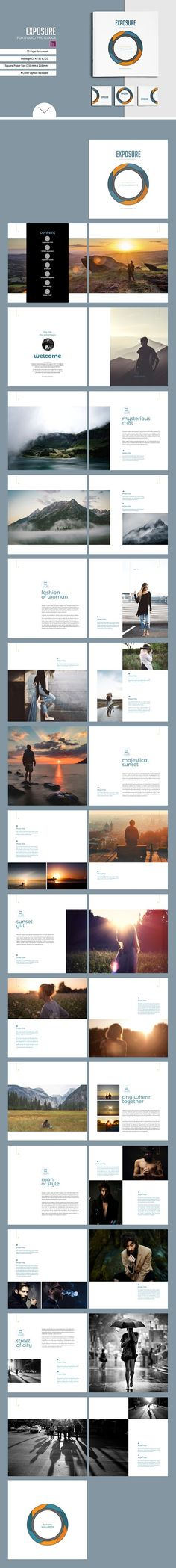 Square Brochure / Portfolio Template by tujuhbenua on @creativemarket