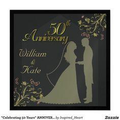"""""""Celebrating 50 Years"""" ANNIVERSARY INVITATION"""